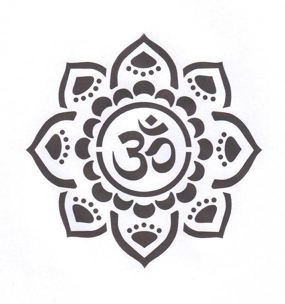 Om Symbol with flower